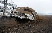 picture of dungeon  - Large excavator digging coal at surface coal mine - JPG