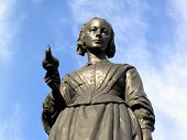 stock photo of nightingale  - Victorian memorial statue of Florence Nightingale 1820 - JPG