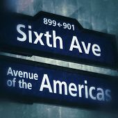 Street sign on 6th Avenue in New York City