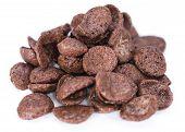 Chocolate Cornklakes Isolated On White