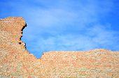 Blue Sky And Brick Wall