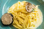 foto of truffle  - Dish of pasta with truffle - JPG