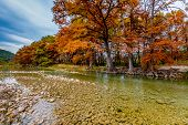 The Gravely Frio River in Fall at Garner State Park, Texas