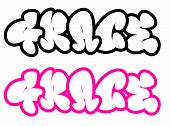 the name Grace in graffiti style funny bubble fonts