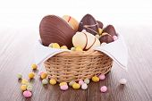 stock photo of easter candy  - easter chocolate eggs - JPG