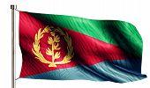 Eritrea National Flag Isolated 3D White Background