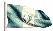 Guatemala National Flag Isolated 3D White Background