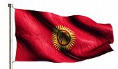 Kyrgyzstan National Flag Isolated 3D White Background