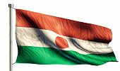 Niger National Flag Isolated 3D White Background