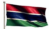 Gambia National Flag Isolated 3D White Background