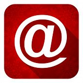 email flat icon, christmas button