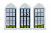 Modern Window. With Clipping Path