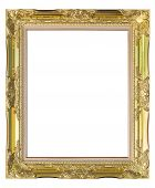 Picture Frame Old Style Isolated On White Background