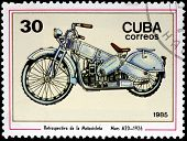 Motorbike Stamp