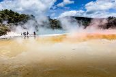Champagne Pool In Waiotapu Thermal Reserve, Rotorua, New Zealand