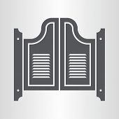 Retro saloon door icon