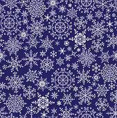 Snowflake Seamless Pattern, Background.winter Vector