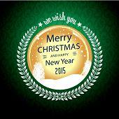 Merry Christmas Wish In Circular Badge