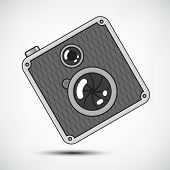 Hipster Retro Style Photo Camera