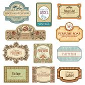Different Vintage Art Nouveau Labels