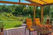 Summer Terrace And Garden