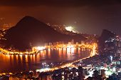 foto of ipanema  - Night View of Rio de Janeiro with Lake and Ipanema Beach - JPG