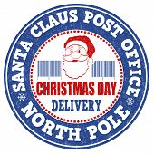 Santa Claus Post Office Stamp