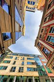 Low angle view of modern offices in Wroclaw, Poland