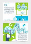 Flyer, Leaflet, Booklet Layout. Editable Design Template A5 Two Sides