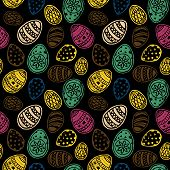 Easter Eggs Seamless Pattern Repeat