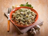barley risotto with mushroom