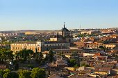 View of Toledo Spain at sunset