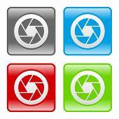 stock photo of objectives  - Camera objective icon as a symbol of camera objective - JPG
