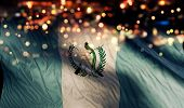 Guatemala National Flag Light Night Bokeh Abstract Background