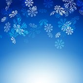 Falling Snow Flakes New Christmas Card