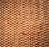 Decorative Background Of Brown Handicraft Weave Texture Wicker Surface