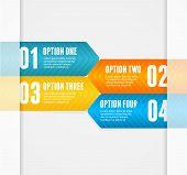 Vector infographics options banner 1 2 3 4