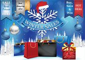Christmas / Winter Sales poster for print