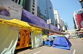 Roadblock Is Set Up To Prevent Police To Conduct The Raid In Mong Kok