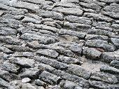 Ancient Cobblestoned Pavement Background