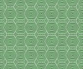 Green And White Hexagon Tiles Pattern Repeat Background