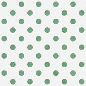 Green And White Large Polka Dots Pattern Repeat Background
