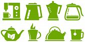 Green Set Teapot And Cup