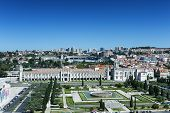 Aerial View Of Mosteiro Dos Jeronimos In Lisbon