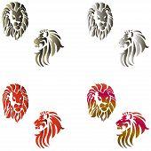Lion Tattoo Set