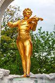 Johann Strauss Statue At Stadtpark In Vienna