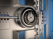 picture of vault  - View of Vault Door 3D rendering image - JPG