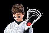 Jugador de Lacrosse de niño