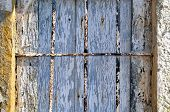 image of abandoned house  - Detail of ruined old window of an old abandoned house - JPG