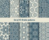 picture of pattern  - Set of vector arabic patterns - JPG